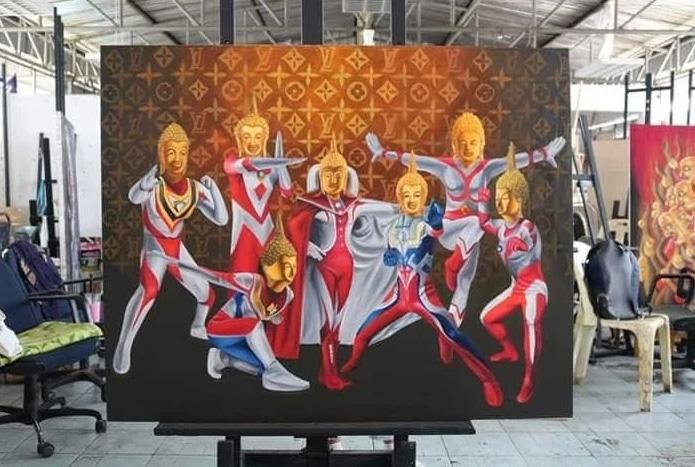 """อธิการฯมรภ.โคราชลั่น! ไม่ทอดทิ้ง นศ.วาดภาพ """"พระพุทธรูปอุลตร้าแมน""""ถูกแจ้งจับ-ยกเป็นบทเรียนสังคม"""