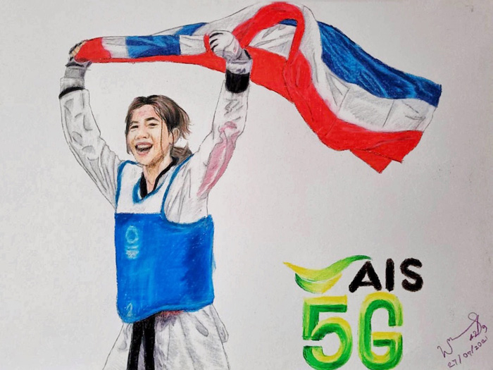 """AIS ควง """"น้องเทนนิส"""" Hero เหรียญทองโอลิมปิก 2020 เข้าสู่ AIS Family อย่างอบอุ่น"""